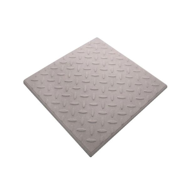 Checkerplate Light Grey Promenade Tile
