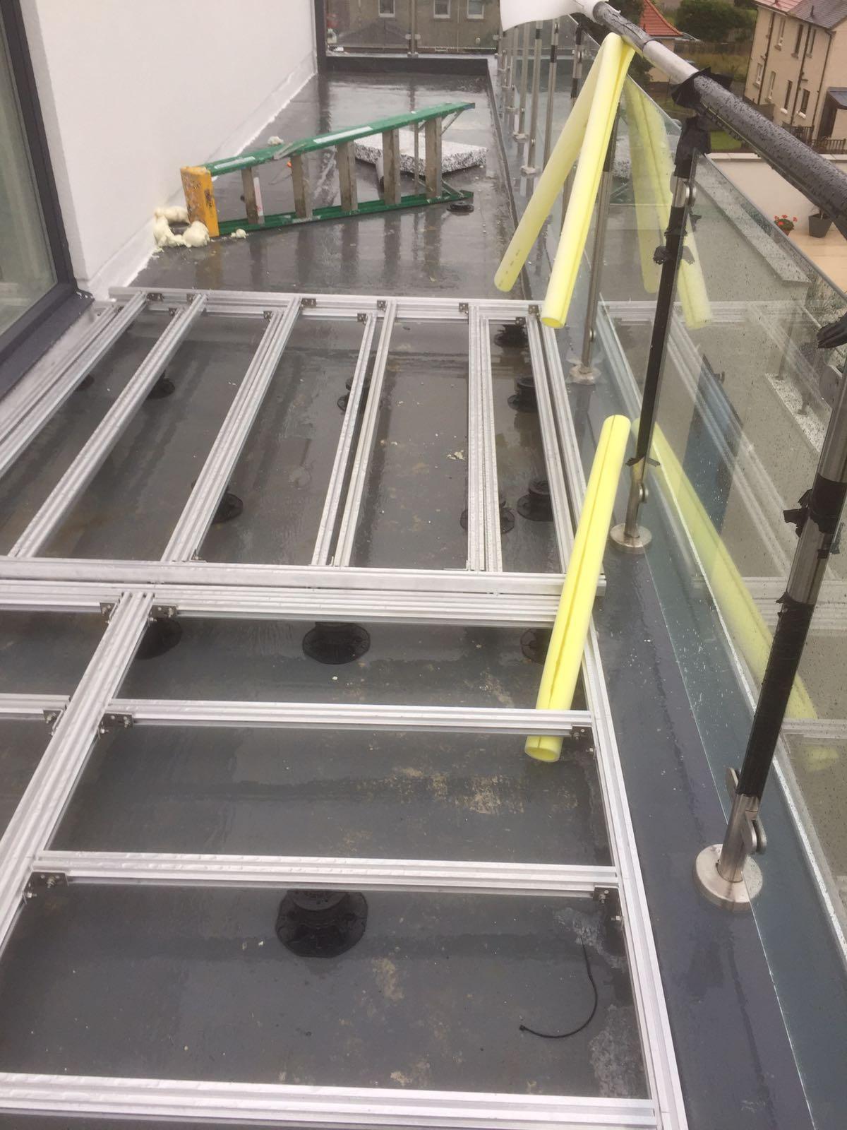 a;uminium decking joist substructure