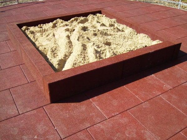 Rubber Sandpit Wall Blocks