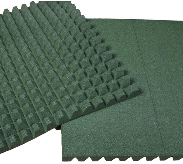Green 1000mm Rubber Tile