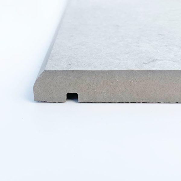 Porcelain coping stone drip checks