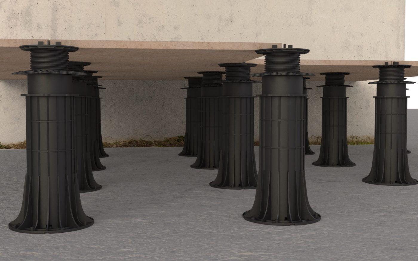 Adjustable Pedestals and Porcelain