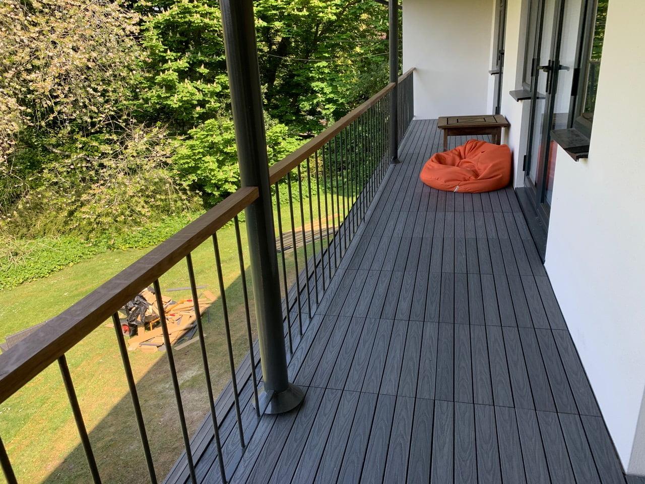 deck tiles on balcony