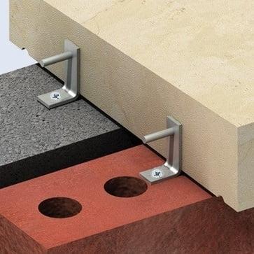 Mechanical fixings coping stones