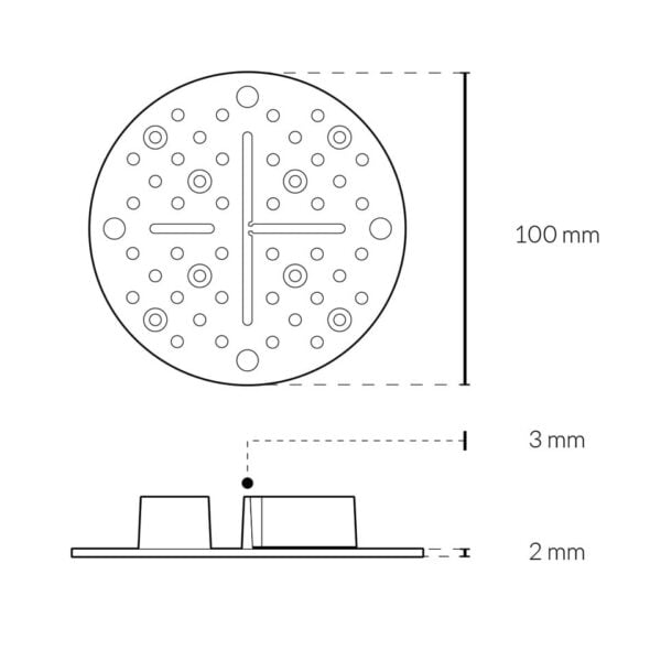 Thin paving support dimensions