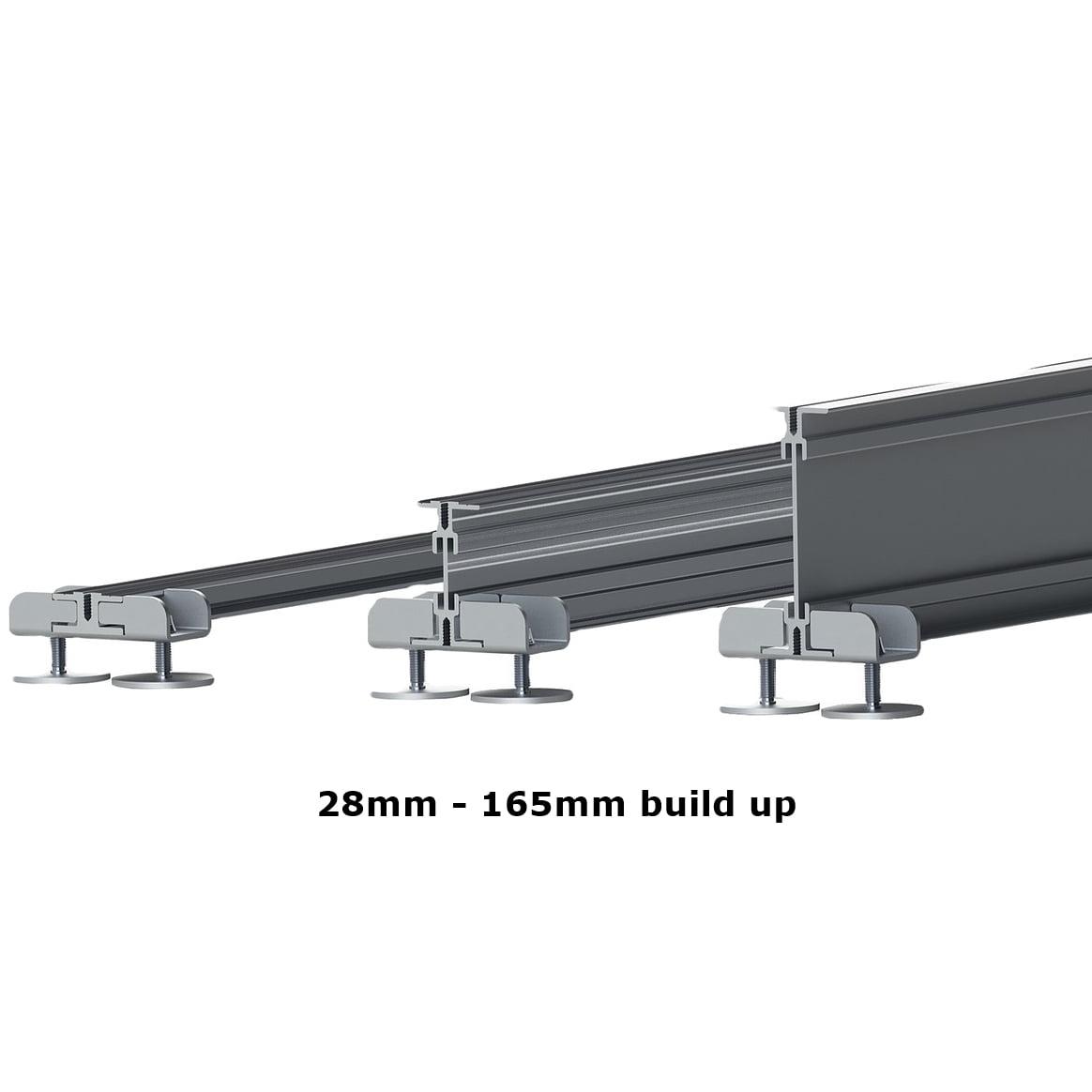 castle aluminium decking pedestals